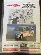 DECALS 1/43 CITROEN AX DIDIER AURIOL RALLYE SERRE CHEVALIER 1988 RALLY WRC