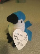TY Beanie Baby Babies Collection - Rocket - Blue Jay - 1999 Original!