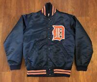 Detroit Tigers Vintage Satin Baseball Dugout Jacket 80s Wilson Size 36 S Small