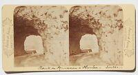 Suisse Strada Brunnen Vintage Stereo Albumina Ca 1875