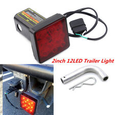 "12-LED Super Bright Brake Light Trailer Hitch Cover Fit Towing & Hauling 2"" Red"