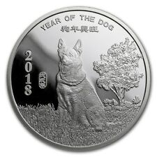 1/2 Oz Year of the Dog Year of the Dog Silver Round 2018 999,99