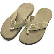 Crocs Crocband Flip Flops Sandals Unisex Lightweight (Mens 8) (Womens 10) Suede