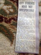 Ephemera New Article 1978 Leicester Russia Rag Week Prank Alan Saunders b1d