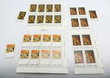 San Marino Stamps 975, 976, 977 Plate Blocks of 4 Plus 1 Single MNH OG