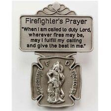 Saint Florian Fire Department Protection Firefighter's Prayer Pewter Visor Clip