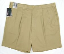 NWT Roundtree York Travel Smart Beige Pleated Front Men's Shorts B44 B48 B50 B52