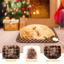 Pet Dog Cat Waterproof Electric Heat Heating Bed Pad Mat Warming Blanket 17 inch