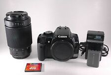 Canon EOS Rebel Kiss / XTi / 400D 10.1 MP Digital SLR Camera 70-300mm Lens + 4GB