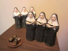 Vintage Porcelain Japan 3 Singing Nuns Figurine X2 Music Box