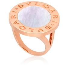 Bvlgari Mother of Pearl 18k Rose Gold Ring- Size 57 346818