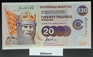 Clydesdale Bank £20 (P227) 1997 C/HG prefix LOW #  *UNC*
