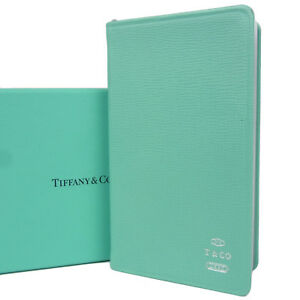 Auth Tiffany&Co. Logos Leather 2018 Daily Planner Address Book F/S 797b