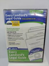 Adams Every Landlord's Legal Guide For PC/Mac Disc New Sealed