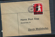 Switzerland  soldier stamp on cover   121  cancel              MS1228