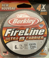 Berkley FireLine Ultra 8 Carrier 6 lb test 125 yards crystal New Free Shipping