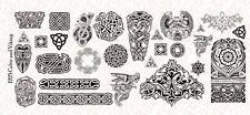 1/12 Scale Custom Tattoos for action fig: Viking Celtic pack - Waterslide Decals