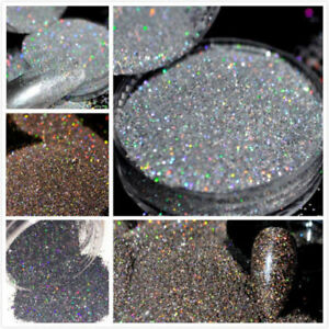 Holographicss Glitter Nail Art Decoration Holo Glitter Dust Powder  Tips