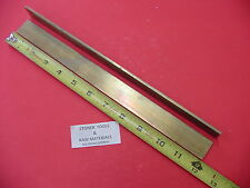 "2 Pieces 1/8""x 3/4"" C360 BRASS FLAT BAR 12"" long Solid Plate Mill Stock H02 .125"