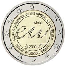 2 EURO COMMÉMORATIVE DE BELGIQUE 2010 - PRÉSIDENCE BELGE DU CONSEIL DE L'UE