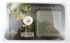 Lovely Windsor Mint Gold Sovereign Elizabeth I .585 (14k) 0.5 g Gold