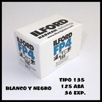 ROLLO DE PELICULA ILFORD BLANCO Y NEGRO CARRETE DE 135 FP4 PLUS DE 125 ASA 36 EX