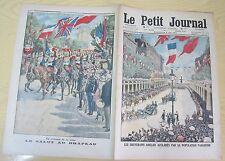Le petit journal 1914 N° 1224 Souverains anglais  aclamés paris