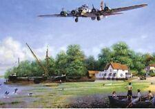 Avión bombardero Boeing B-17 Flying Fortress en Blanco Tarjeta Cumpleaños Padres Día