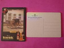 BEER COASTER <> KWAK Brouwerij BOSTEELS Brasserie ~ Belgian Victoria Coach Wagon