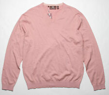 Hickey Freeman Mohogany Collection V Neck Sweater (L) Dusty Pink 5M245224