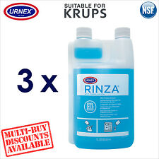 3 x Urnex Milk Line Frother Arm Cleaner Acid for Krups Coffee Machine