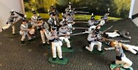 Scarce 20-Conte Gray USArmy War Of 1812 ProPainted Plastic Figures 1/32-54mm Lot