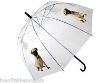 Pug Dome Umbrella Super Cute Kids Girls Love Pugs Stocking Filler Gift