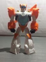 "2013 Transformers Action Figure 2013 Orange White Hasbro Transformer 11"" Toy"