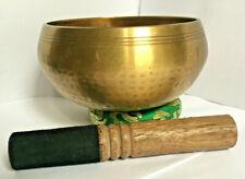 More details for dotted handmade singing bowl set,nepal healing,1.14kg,d# note,15.2cm diameter