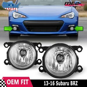 Fits 13-16 Subaru BRZ Clear Lens PAIR Factory Bumper Replacement Fog Light Lamps