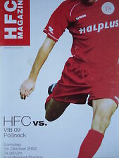 Programm 2002/03 HFC Hallescher FC - VfB Pößneck
