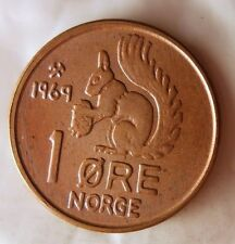 1969 NORWAY ORE - SQUIRREL COIN - FROM ORIGINAL NORGE BANK ROLL - Bin BBB/5