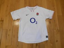 Nike England Rugby Union RFU White Home Jersey Strip Kit Youth Girls Large Rose