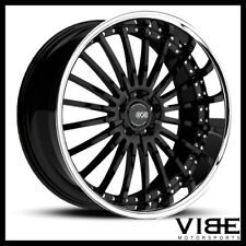"20"" XO NEW YORK BLACK CONCAVE WHEELS RIMS FITS CADILLAC CTS V COUPE"