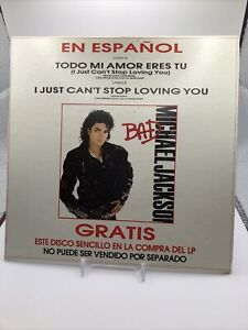 """MICHAEL JACKSON I Just Can't Stop Loving You (Spanish Version) 7"""" MEXICAN PROMO"""