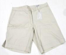 "Callaway Golf Ladies Flat Front Shorts UK 14 Waist 36"" Dark Cream BNWT"