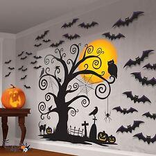Halloween Spooky Tree Family Friendly Graveyard Scene Setter Wall Decoration Kit