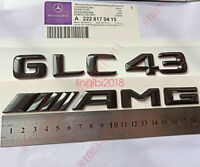 """Gloss Black /"""" C450 AMG BITURBO //////AMG /"""" Number Emblem Sticker for Mercedes-Benz"""