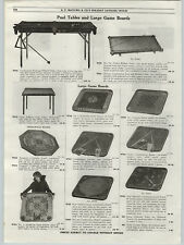 1919 PAPER AD Large Game Boards Ideal Baseball Carrom Crokinole Archarena Board