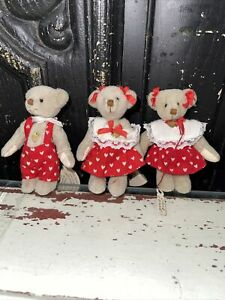 Valentine Ganz Cottage Collectibles Miniature Bears 2 Tammies and a Terry (3)