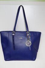 GUESS WOMENS SHOPPING SHOULDER BAG HANDBAG TOTE SATCHEL EXTRA LARGE BIG BLUE 84