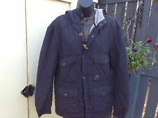 Duck & Cover Lorenzo V2 Jacket -  Padded Hooded Black Large