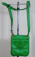 Isaac Mizrahi Designer Handbags: Leather Green Crossbody Bag (New no tags)