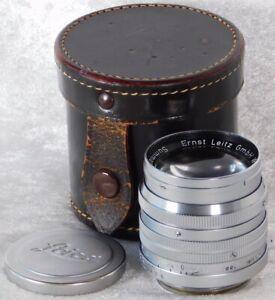 VTG Leica Leitz Wetzlar Summarit L39 f1.5 cm 50mm Lens w/ Case